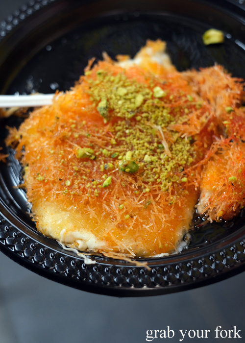 Knafeh at the Ramadan Night Market in Lakemba Sydney