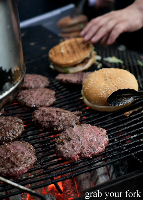 Beef and camel burgers at the Ramadan Night Market in Lakemba Sydney