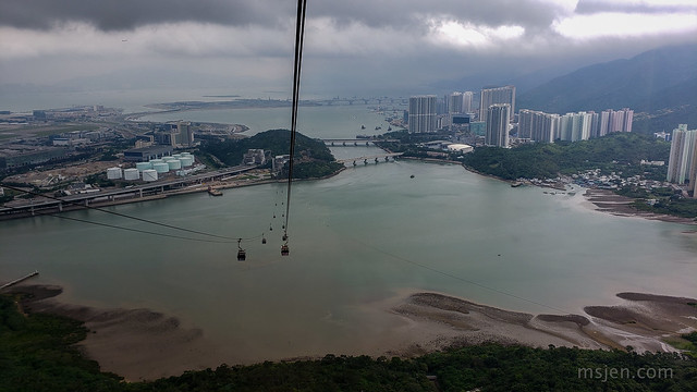 Riding the Cable Cars back from the Big Buddha