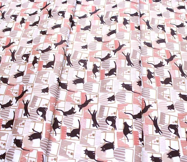 Paintbrush Studio Fabrics Hats for Cats 120-208201 Cats in Window