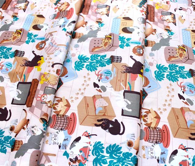 Paintbrush Studio Fabrics Hats for Cats 120-208001 Cat Room