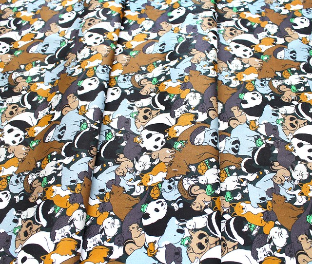 Paintbrush Studio Fabrics Menagerie 120-99711 Animal Cluster