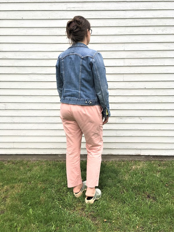 Sprint Pants!  Simplicity 1696 in Cloud9 Tinted Denim