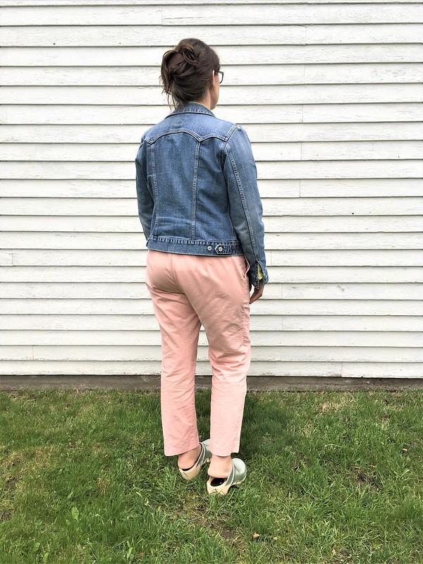Sprint Pants!  Simplicity 1696 in Cloud9 Tinted Denim