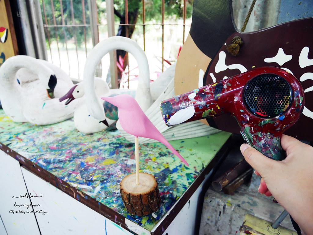 苗栗桐花季旅遊好玩雨天室內親子景點推薦ㄚ箱寶木雕彩繪DIY (7)