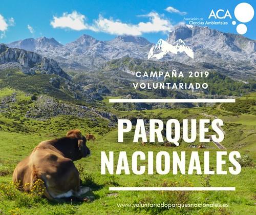 Un año más, ACA lanza el Proyecto de Voluntariado en Parques Nacionales 2019