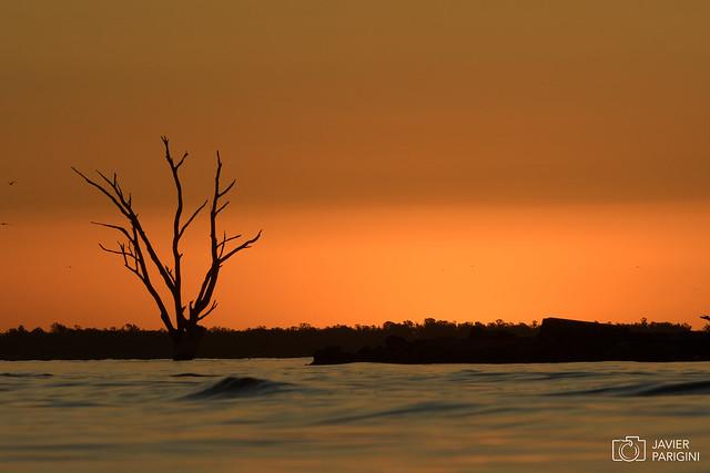 Atardecer sobre Laguna Mar chiquita