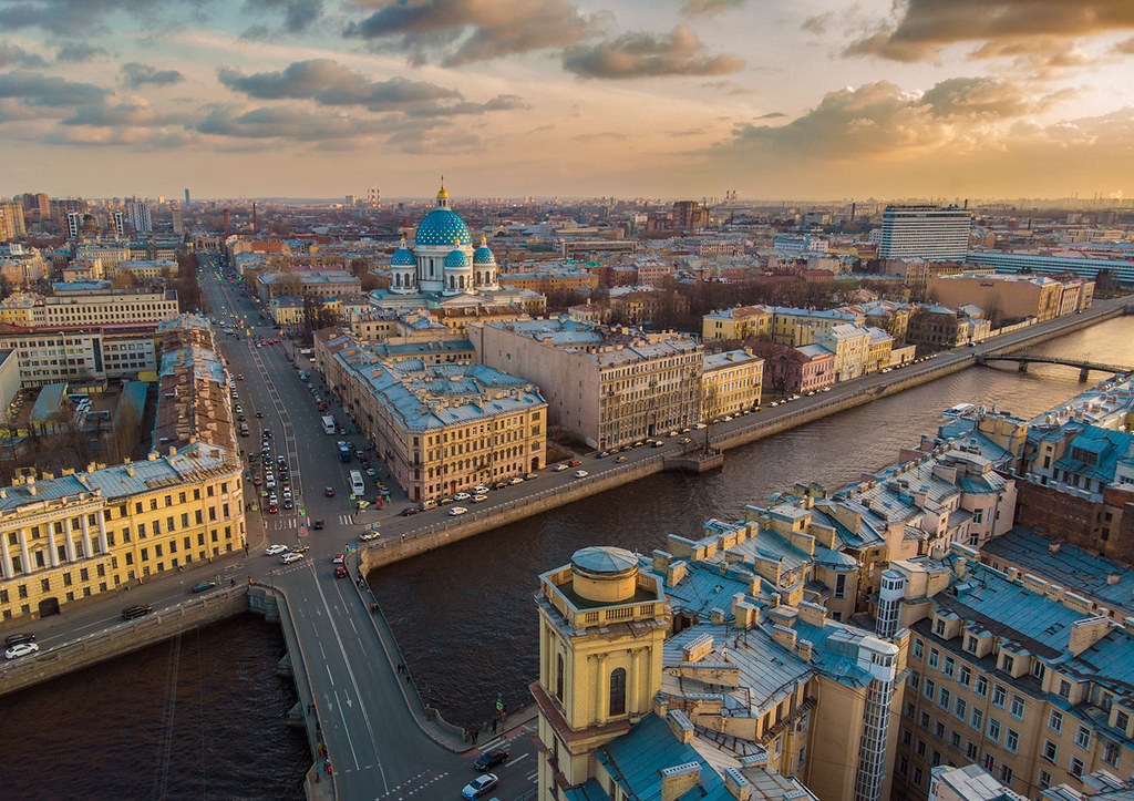 Warm spring evening at St.Petersburg