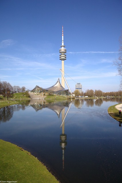 Olympiaturm im Olympiapark München am 30.03.19