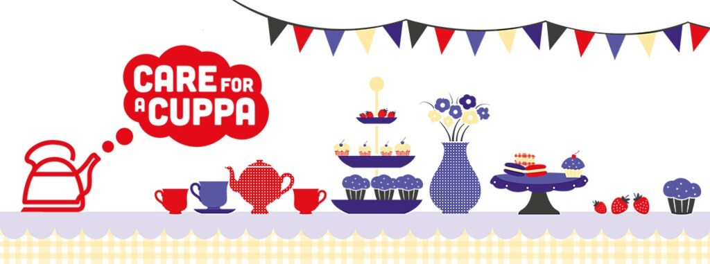 Bold graphic showing afternoon tea