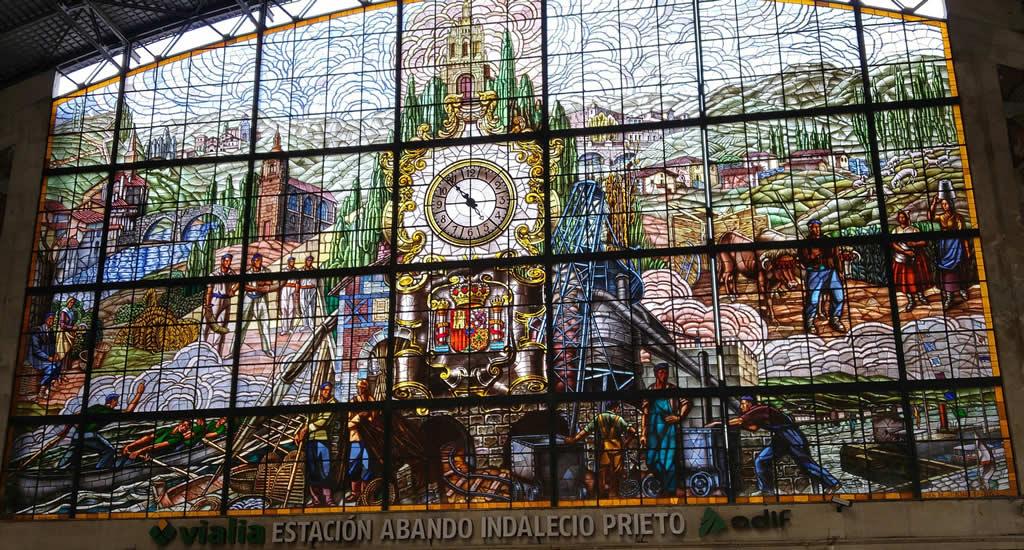 Mozaïek in treinstation Concordia, Bilbao | Mooistestedentrips.nl