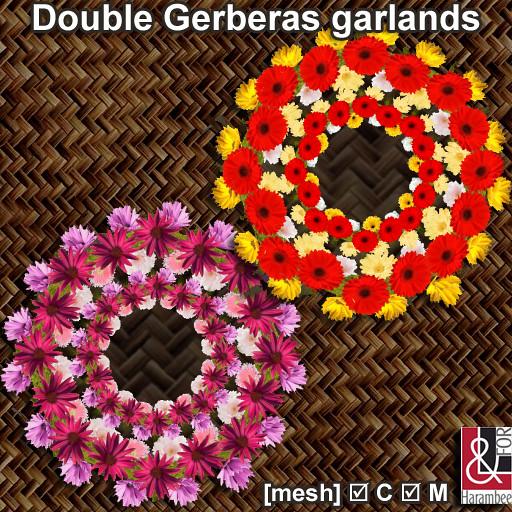 Double Gerberas garlands - TeleportHub.com Live!