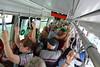 Verona, Fahrt im Stadtbus, umfallen konnte niemand