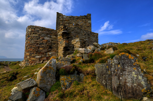 CARRICKABRAGHEY CASTLE, ISLE OF DOAGH, INISHOWEN, CO. DONEGAL, IRELAND.