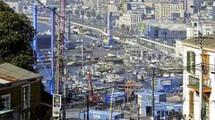 Porto de Valparaíso, Chile -  vista parcial (série com 2 fotos)