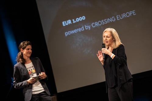 CE19 - awards ceremony // Moderator Karin Schmid, Christine Dollhofer (Festival Director) // photo © Andreas Wörister / subtext.at