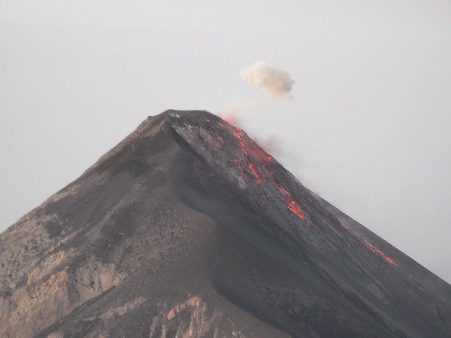 Fuego eruption from summit