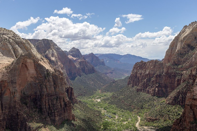 Blick in den Zion Canyon.