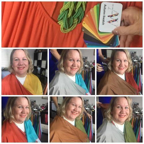 Autumn swatch Ann Whitaker colour consultant