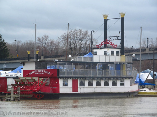 Paddle steamer at the Port of Rochester in Charlotte, New York
