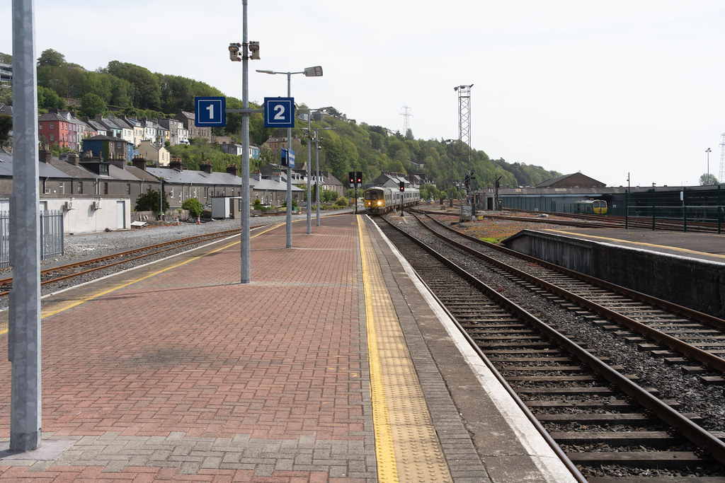 THERE IS A TRAIN EVERY HALF HOUR FROM KENT STATION TO COBH 001