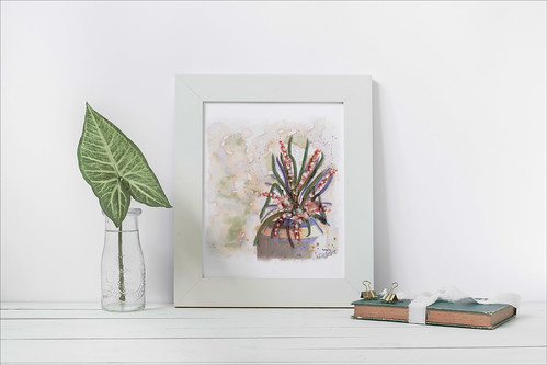 Image of a painting in a mockup frame