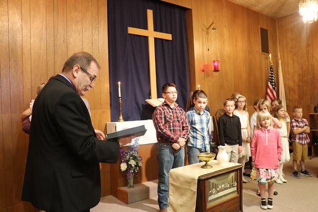 Kanopolis UMC baptizes 13 youth