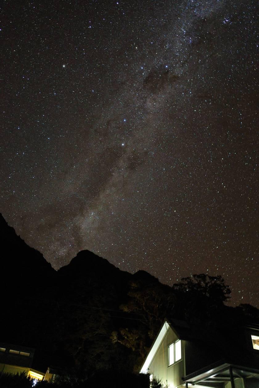 ニュージーランド・ルートバーントラックの星空