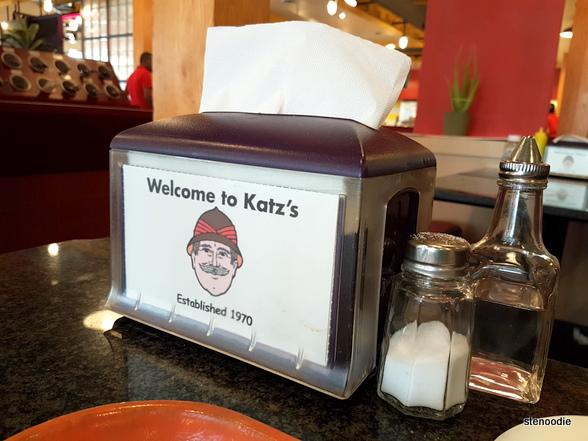 Katz's Deli table condiments