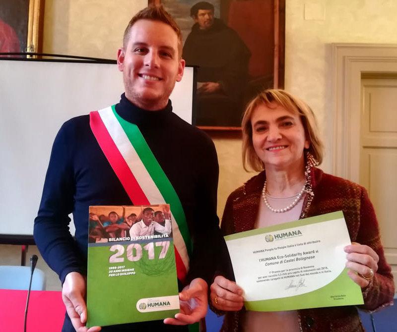 Il Comune di Castel Bolognese vince l'Humana eco-solidarity award 2019
