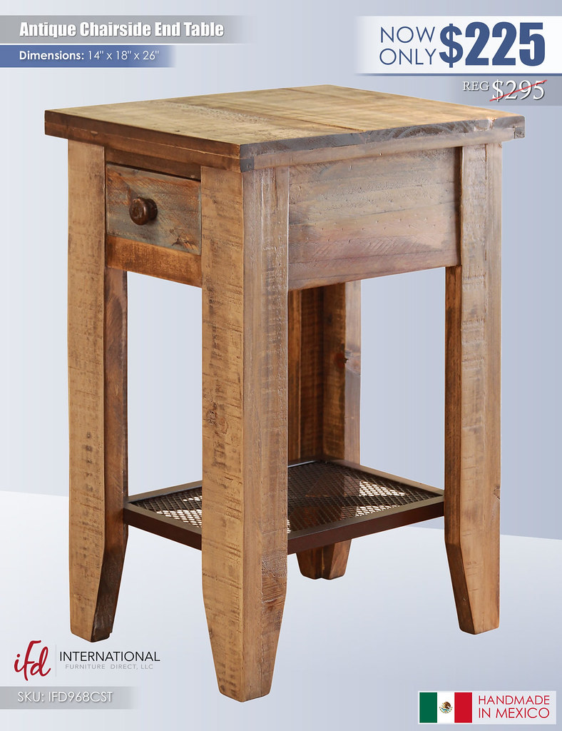 Antique Chairside End Table_IFD968CST