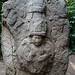 Warrior king surrounded by ancestors.Olmec sculpture.Villahermosa La Venta Park