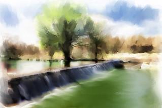 Blanco River. Painterly take.