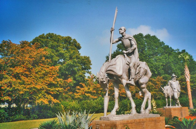Don Quixote by Anna Hyatt Huntington and Sancho Panza by C. Paul Jennewein - Murrells Inlet -   Brookgreen Gardens - South Carolina - USA