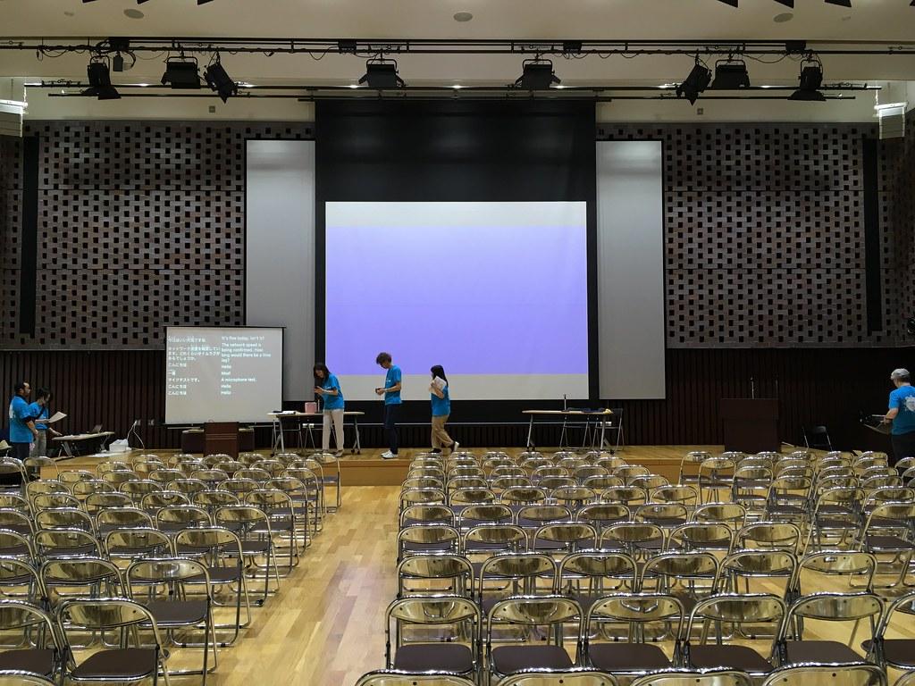 アクセシビリティの祭典 2019 会場設営中の模様