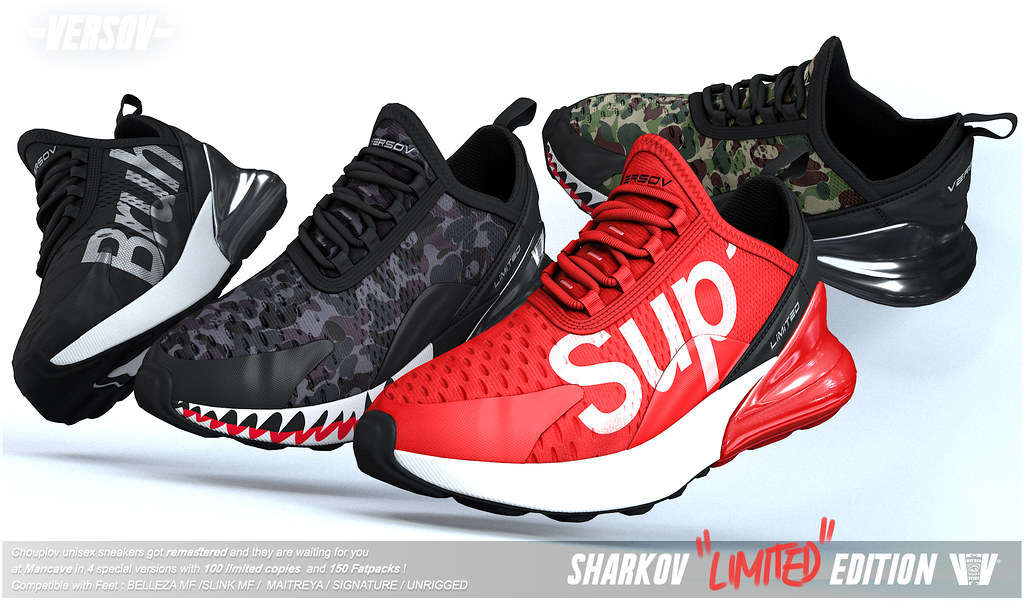 Versov // ] SHARKOV LIMITED EDITION sneakers available at ManCave