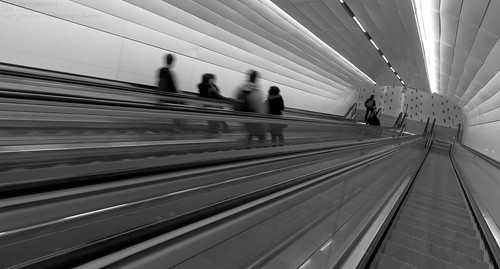 exploration explorer discovery discover traveller travel trip adventurer adventure photographer pro photography photo picture image frame panorama pano wide monochrome black white world earth landscape ground place centralbusinessdistrict central business district downtown city cityscape urban urbanscape streetphotography street transportation transport publictransportation publictransport subway underground tube railway metro station connection interchange escalator commuter tunnel construction design engineering material raw concrete plastic steel moment autumn april night cityphotography urbanphotography canonphotography camera canon canonsx60hs awesome beautiful creative
