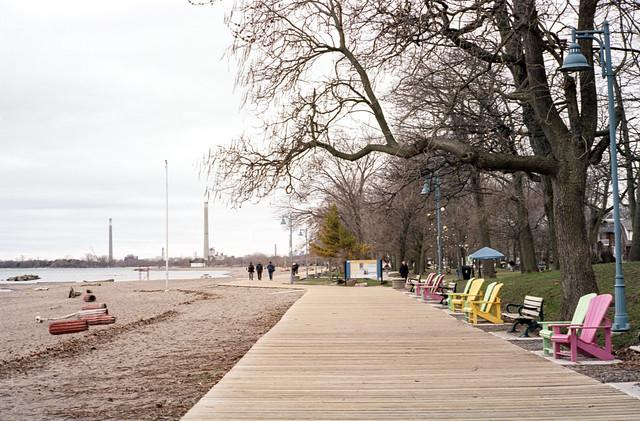 Almost Deserted Balmy Beach Boardwalk