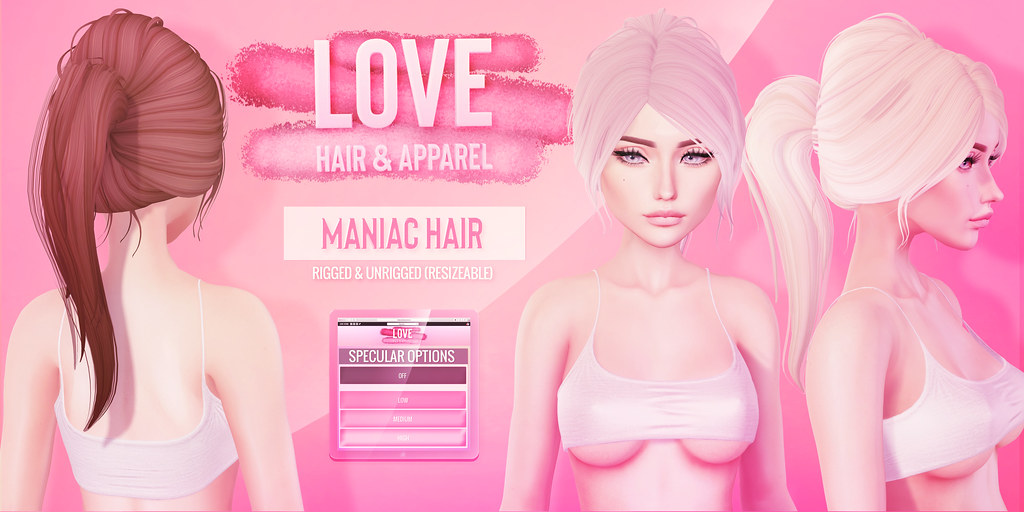 Love [Maniac] Hair - The Saturday Sale 05/18/19 - TeleportHub.com Live!