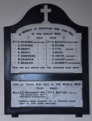 Sweffling men who fell in the Great War