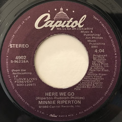 MINNIE RIPERTON:HERE WE GO(LABEL SIDE-A)