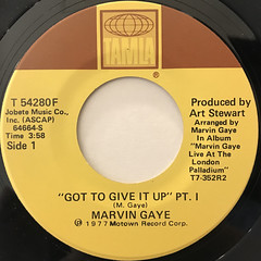 MARVIN GAYE:GOT TO GIVE IT UP(LABEL SIDE-A)