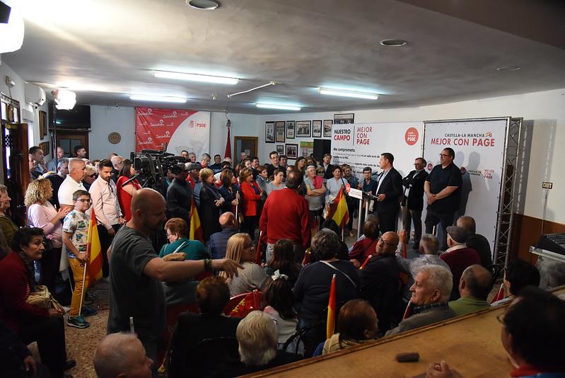 Encuentro con militantes y  simpatizantes en Villafranca de los Caballeros (Toledo)h