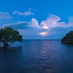 2. Veebruar 2015 - 19:16 - Orages sur le lagon sud depuis l'Ilot Song...