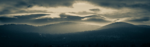 sunrise mountain taconic columbia county upstate ny new york rwgrennan rgrennan ryan grennan light clouds mono monochrome landscape panorama pano panoramic nikon d610 outdoors nature morning