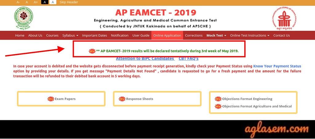 AP EAMCET 2019 Result