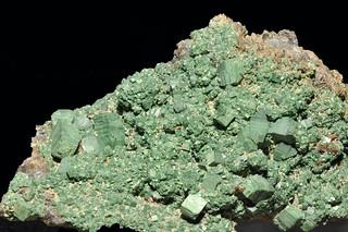 torbernite, quartz var. smoky quartz - crystals up to 15 mm