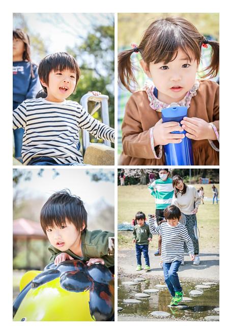 森林公園(愛知県尾張旭市)で遊ぶ子供