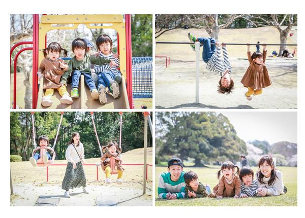 森林公園(愛知県尾張旭市)で家族写真