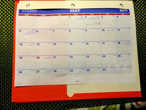 May 2019 Diary